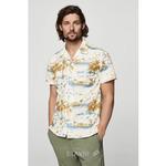 Рубашка regular fit с тропическим принтом