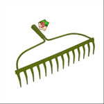 Грабли для газона 12 зуб. Мультидом ML-J83-60