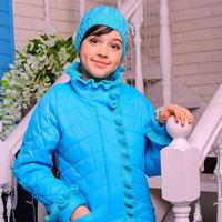 Куртка демисезонная+шапка для девочки «Одри» (рост 140 см)