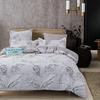 Комплект постельного белья Сатин вышивка, простынь на резинке + 4 наволочки