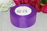 Репсовая лента однотонная (насыщенный фиолетовый) 40мм * 20 ярдов (+-1м) Артикул S80/15