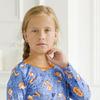 "Ночная сорочка подростковая ""Лисичка"" (дл. рукав, синий) №А-06296/1"