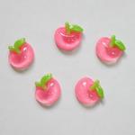 Кабошоны акрил. Яблочки 21*19мм, 10 шт, цв.розовый