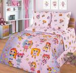 Детское постельное белье из поплина 1,5 сп с 1 наволочкой 70х70 (МИЛАНИКА) - Лолита