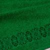 полотенце махровое изумрудное с бордюром 35х60 см