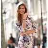 Многоцветное платье с принтом из неопрена