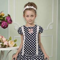Платье для девочки «Горошек» (рост 128 см)