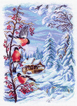 1508 Русская зима - рисунок на канве (МП) оптом