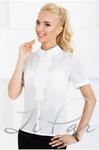 Блуза с декоративной планкой