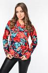 Блуза с воротником отворотом