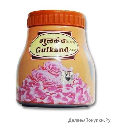 Гулканд тоник для здоровья (пресерв, приготовленный на солнце из лепестков Дамасской розы) 400гр Патанджали