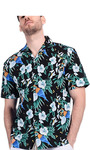рубашка мужская Boisouey Men's 100% Cotton Button Down Short Sleeve Hawaiian Shirt