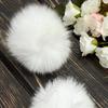 Помпоны меховые, натуральные (2 шт) SF-3955, белый Артикул: 710-740