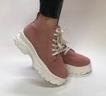 Ботинки женские  чайная роза