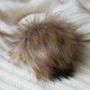 Помпон из искуственного меха 12-14см цв.енот