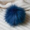 Помпон из искуственного меха 12-14см цв.синий