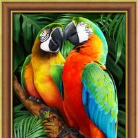 """Картина стразами (набор) """"Ара в джунглях"""""""