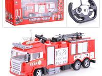 """Машина 666-192A """"Пожарная"""" р/у, на аккумуляторах, зарядное, в коробке"""