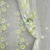Органза термопечать без утяж Лилии Артикул: 25/D27-4 зел+сал  Ширина рулона: 280 см