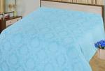 ЖАККАРД поплин (простыни на резинке) - Голубой (Аквамарин)