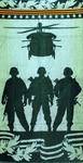 Полотенце махровое банное Солдаты 70x140 см