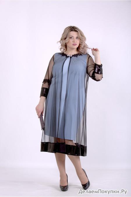 Женское платье с сеткой