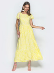 Платье-макси из принтованного штапеля