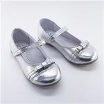 Школьные туфли для девочек Модель Стейси серебро