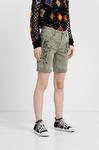 Короткие брюки с цветочной вышивкой