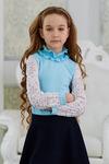 Блузка школьная c воротом-рюшей