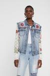 Цветочный патч джинсовая куртка и вязание крючком