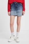 Асимметричная джинсовая мини-юбка