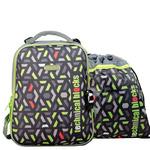 Школьный ранец B4-0035 Серый/Зеленый