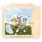 Natural Cotton Ультратонкие дышащие прокладки с крылышками на критические дни, 4 капли, 24,5 см, 8 шт