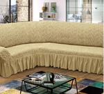 Натяжные чехлы универсальные жаккард на угловой диван