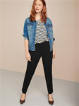 Эластичные узкие брюки