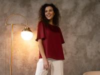 Однотонная блузка B2513/fibula