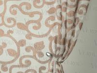 Имитация льна Вензель Артикул: 37/1/022-6-4 коричневый  Ширина рулона: 2,8 м  Состав ткани: 100% полиэстер