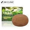 3W CLINIC Мыло кусковое ЗЕЛЕНЫЙ ЧАЙ Dirt Soap Green Tea, 150 гр