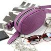 Женская кожаная поясная сумка Пурпурный