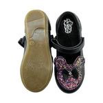 Модель Минни(школьная обувь для девочек)черный+аметрин