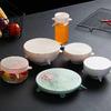 Силиконовые крышки для хранения продуктов, набор 6 штук