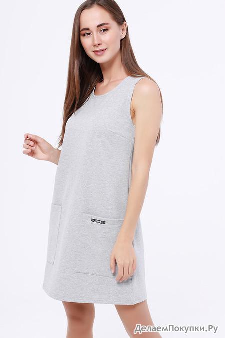 #107254 Платье Серый