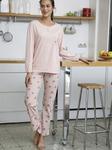 Длинная пижама с принтом