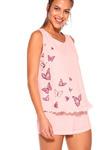 Пижама с кружевом и принтом бабочек