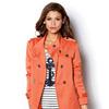 Женская куртка-парка с длинным рукавом с наплечниками