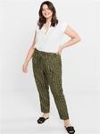 Полосатые льняные брюки