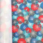 Мембранная ткань Добби Понж 240Т цвет снежинки