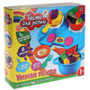 Набор теста для лепки 5 цветов - Умная Плита: плита, посуда, приборы,17 формочек )