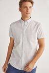 Короткая льняная рубашка